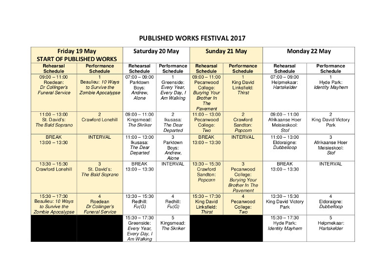 FEDA SCHEDULE page 5