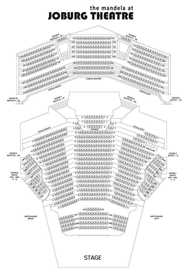 theatre seating plans - the mandela