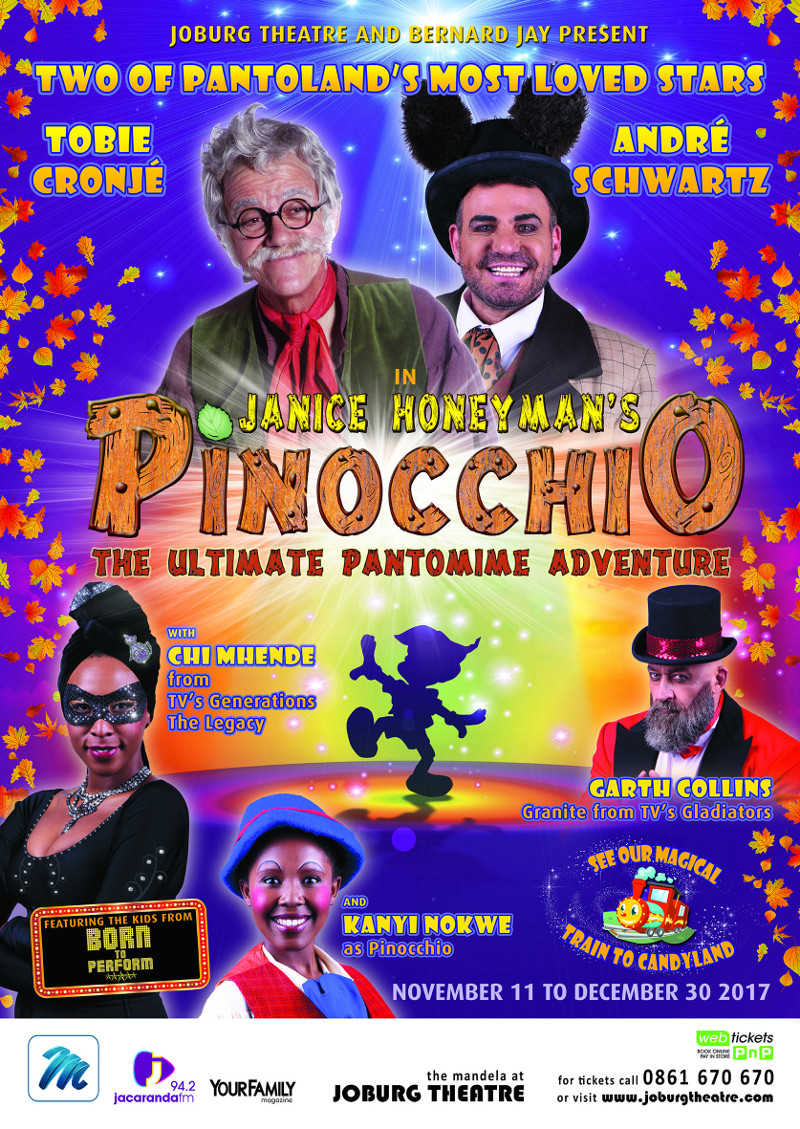PINOCCHIO - JOBURG THEATRE - A1 POSTER (September 2017)