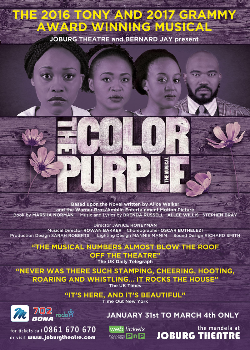 THE COLOR PURPLE - Joburg Theatre - A1 Poster - September 1st2017
