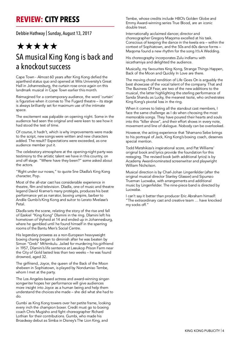 King Kong Press ReviewsPg4
