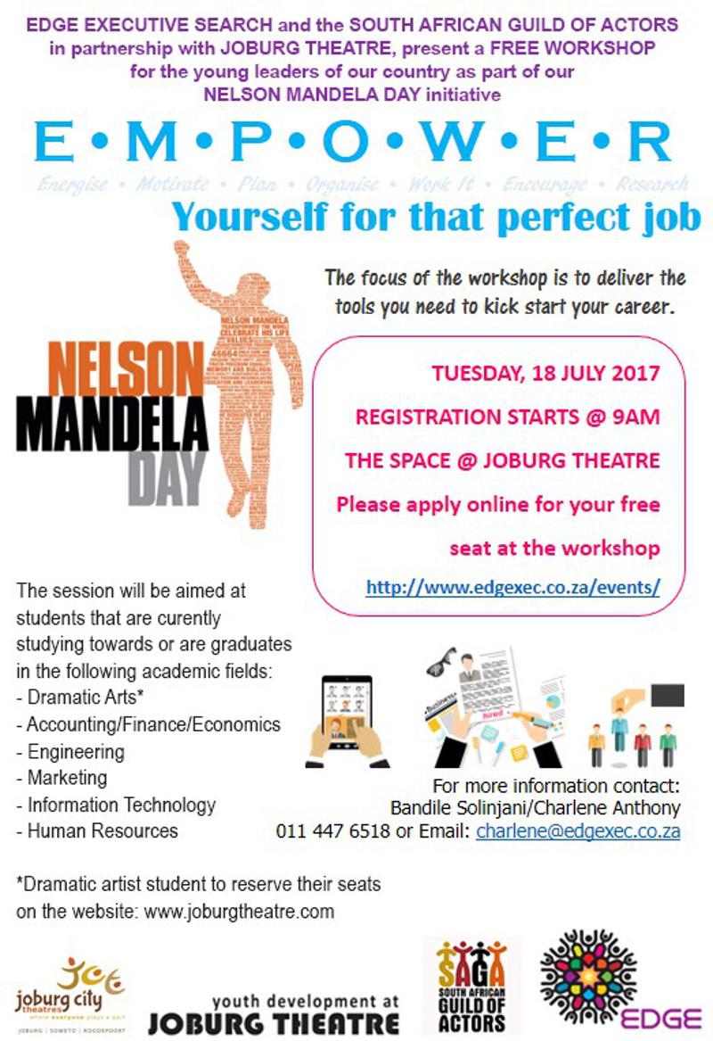 Mandela Day 2017 info image